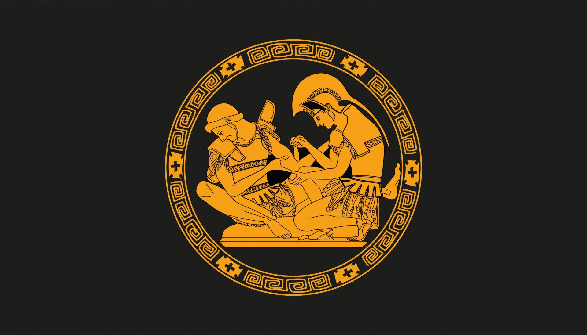 Elaborazione grafica ispirata alle anfore dell'Antica Grecia